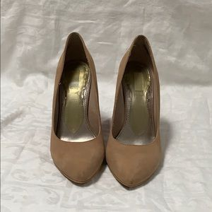 Rachel Roy Beige Pink Orange Wedge Pumps Size 8